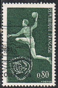 France SG1863 1970 7th World Handball Championship 80c good/fine used